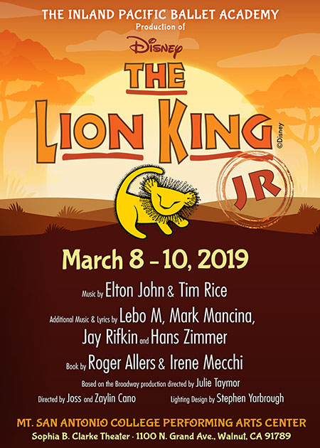 Inland Pacific Ballet Academy's The Lion King Jr Show Art