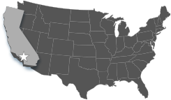 United States map showing location of Mt. San Antonio College